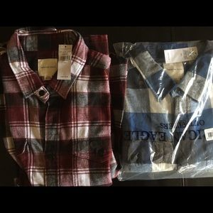 American Eagles Flannel Shirts NWT
